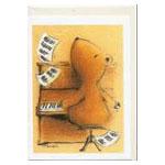 Hälsningskort, Nalle spelar piano